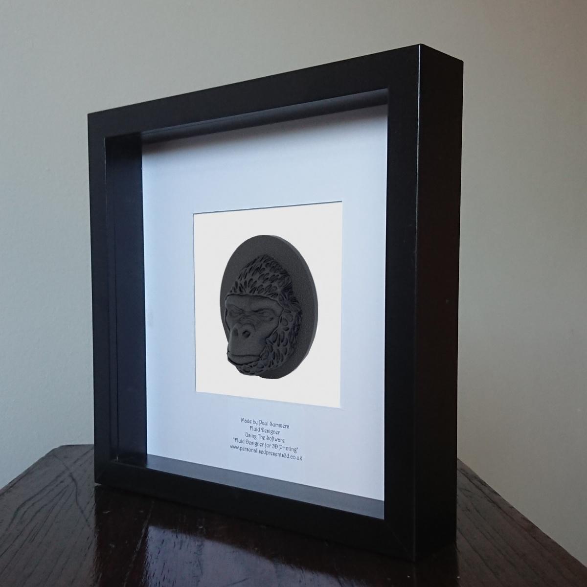 Gorilla-Face-Half-Voronoi-Mask-001-Framed