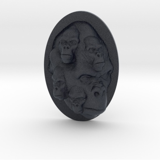 Gorilla-Multi-Faced-Caricature-006-Black-Thumbnail