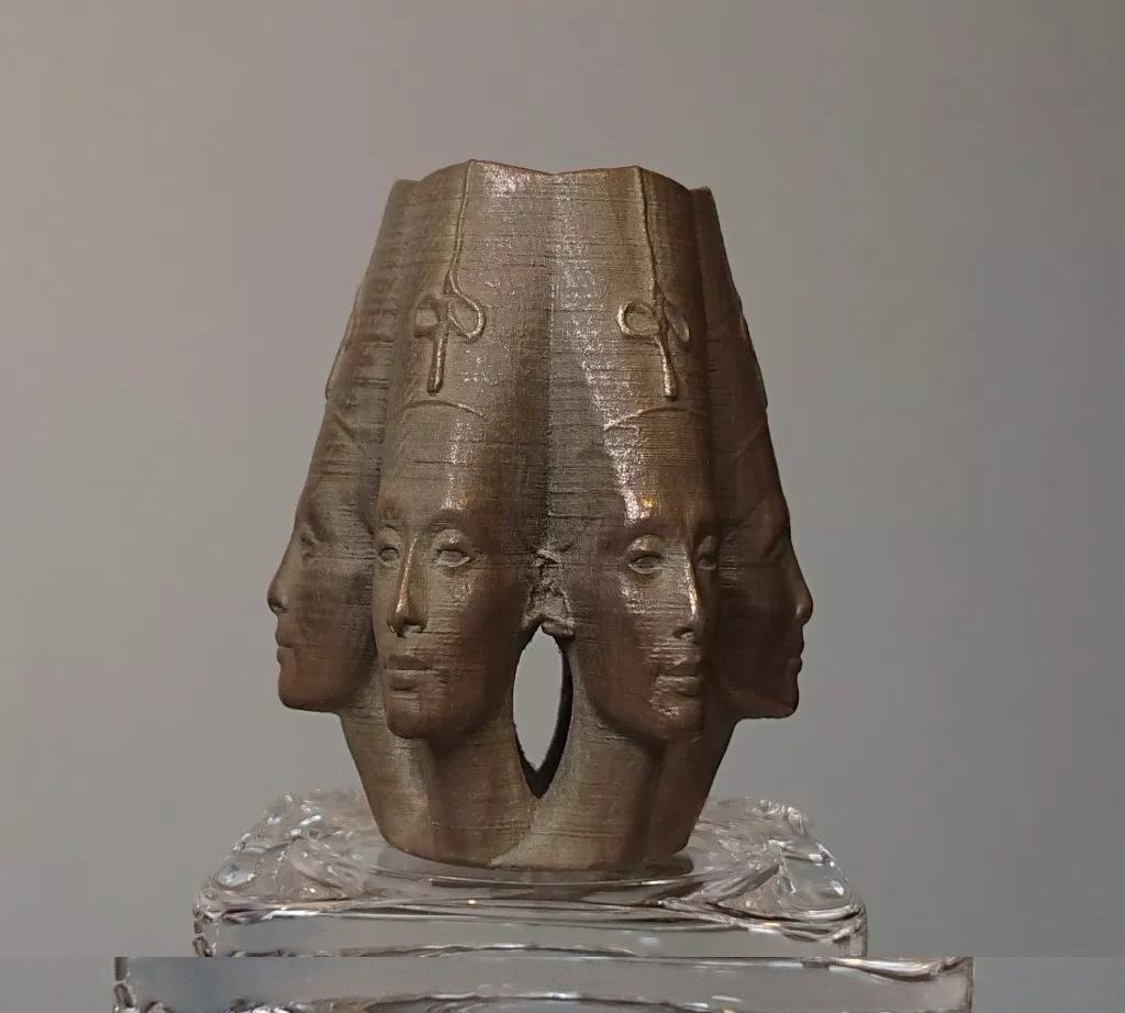 Nefertiti-Multi-Faced-Circular-Array-in-BronzeFill