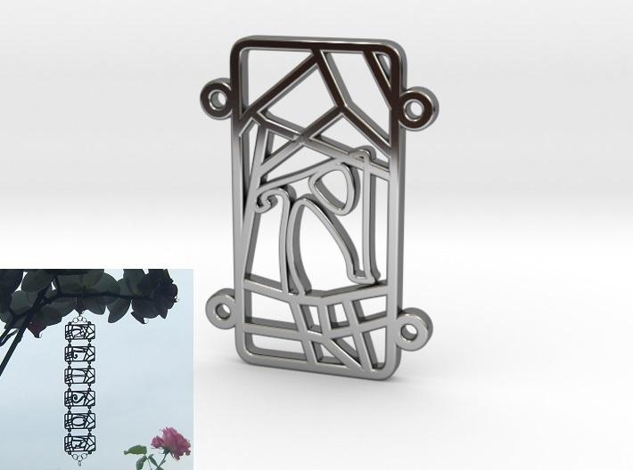 Inkscape-Voronoi-Pattern-004-Bracelet-Personalised-A-Silver