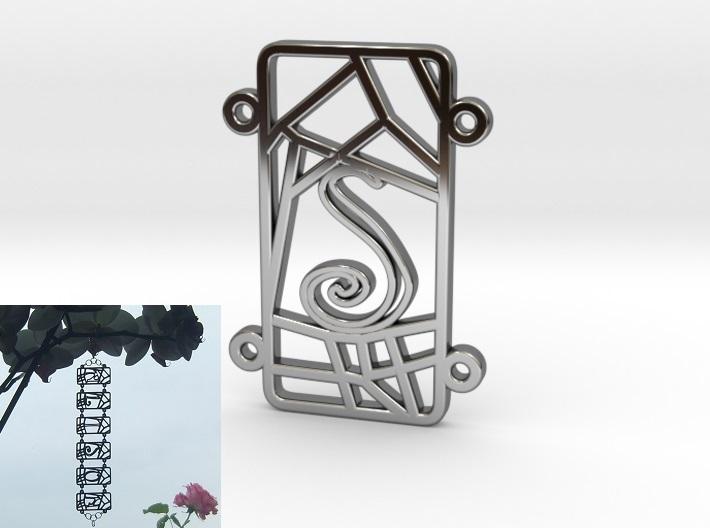Inkscape-Voronoi-Pattern-004-Bracelet-Personalised-S-Silver