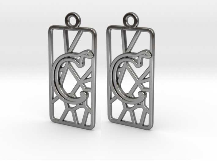 Personalised-Inkscape-Voronoi-Earring-Rectangular