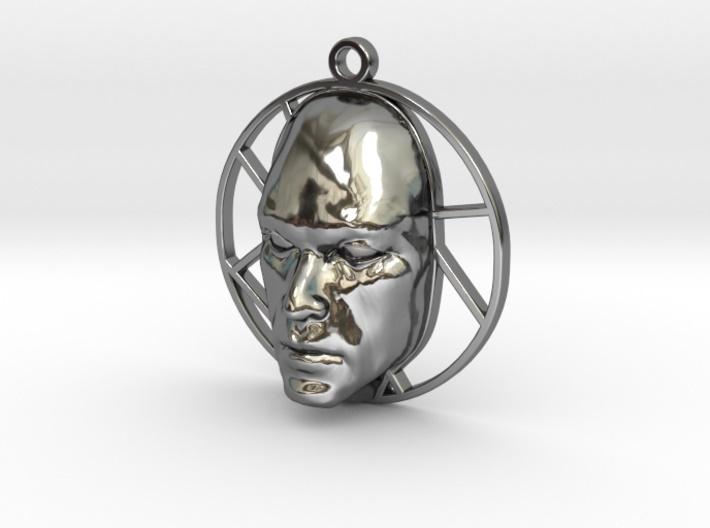 Personalised-Mans-Face-Voronoi-Pendant