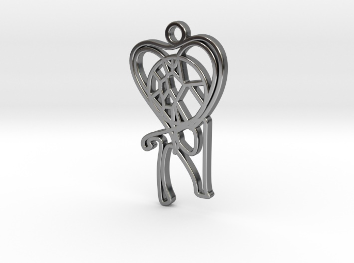 Personalised-Voronoi-Heart-Pendant-Circular